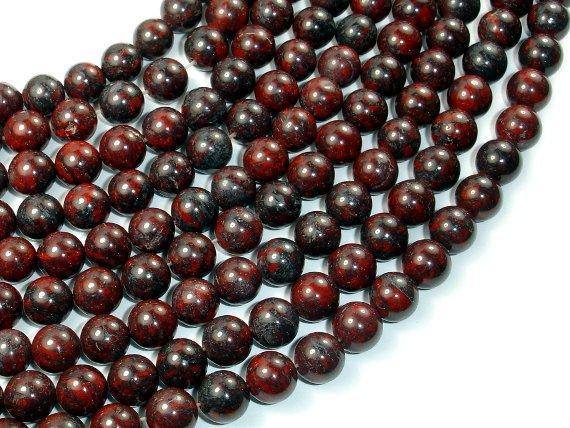 Brecciated Jasper Beads, Round, 8mm-BeadXpert