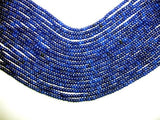 Blue Jade Beads, Faceted Rondelle, Approx 2 x 4mm-BeadXpert