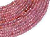 Genuine Ruby, Approx 4x5mm Faceted Rondelle Beads-BeadXpert