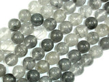 Gray Quartz, 10mm, Round Beads-BeadXpert