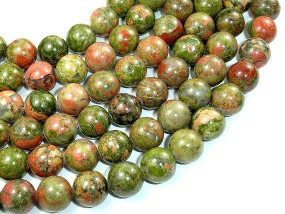 Unakite Beads, 12mm Round Beads-BeadXpert