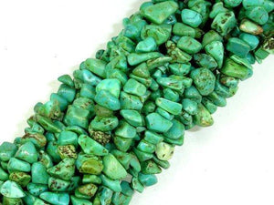 Turquoise Howlite, 4mm - 9mm Chips Beads, 34 Inch, Long full strand-BeadXpert