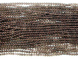 Smoky Quartz, 4mm Round Beads-BeadXpert