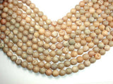 Druzy Agate Beads, Light Champagne Geode Beads, 10mm Round Beads-BeadXpert