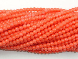 Pink Coral Beads, Angel Skin Coral, 3mm Round Beads-BeadXpert