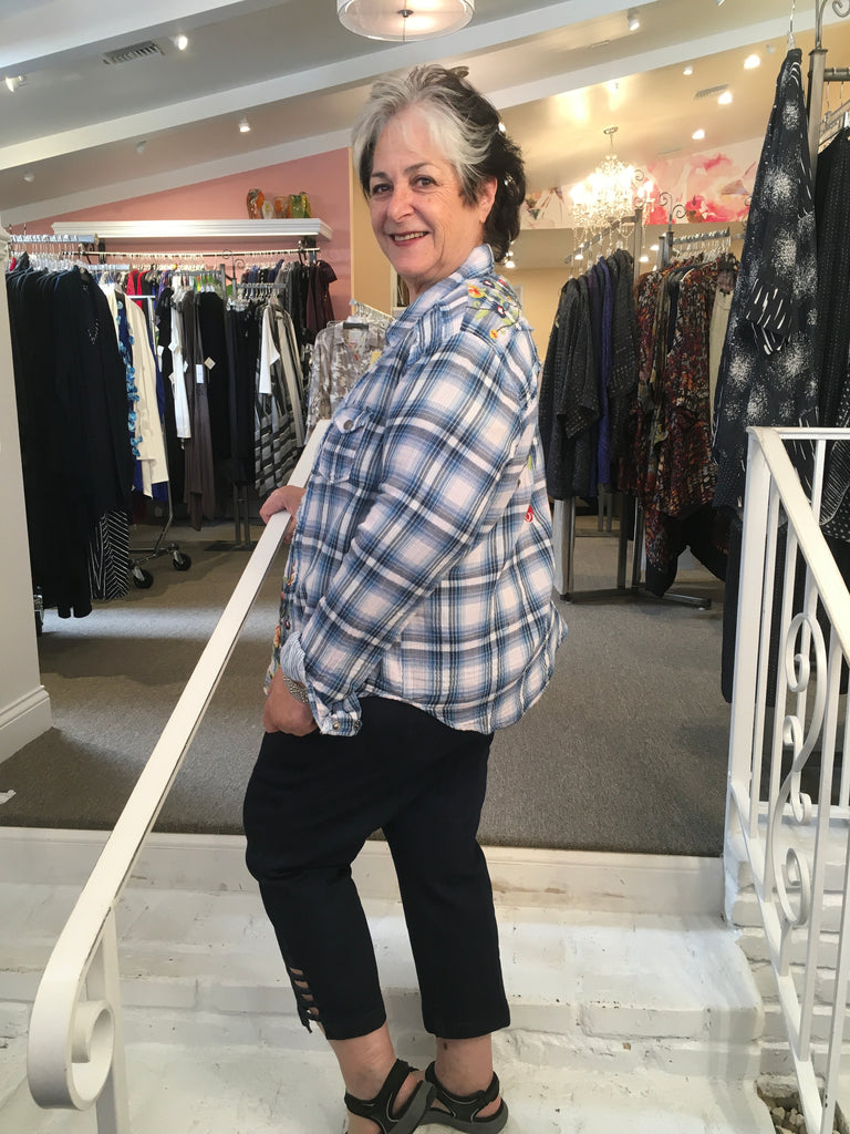 MARIELLA PLAID SHIRT, CAITE INC./KYLA SEO - ABUNDANCE PLUS SIZE