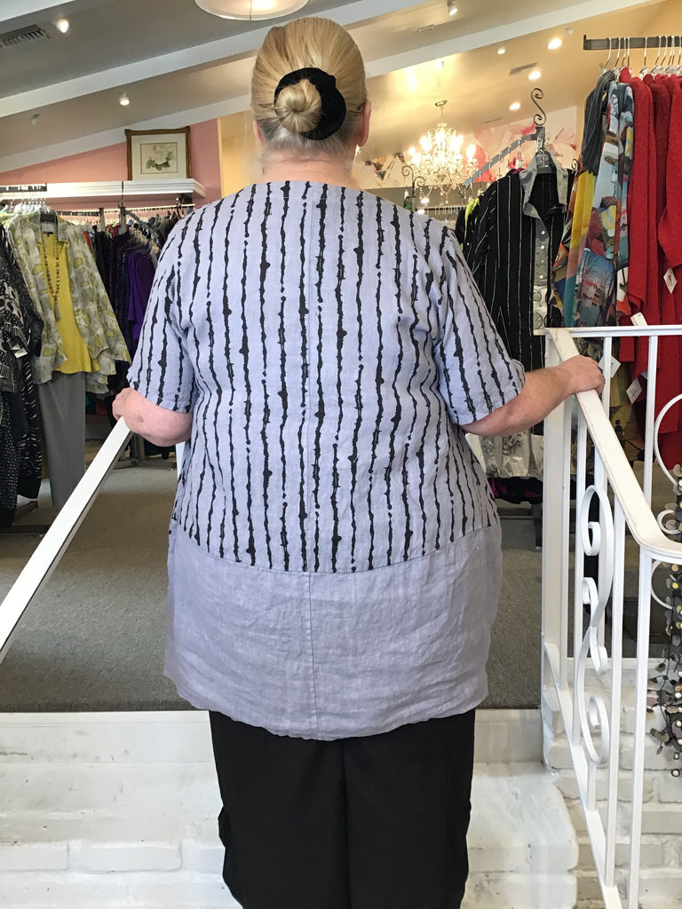 TUNIC - DRESS - LILAC LINES, ABUNDANCE - ABUNDANCE PLUS SIZE