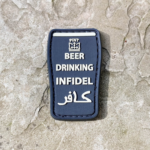 Beer Drinking Infidel PVC Morale Patch