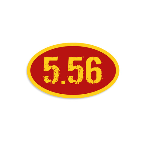 5.56 Red & Yellow Vinyl Sticker