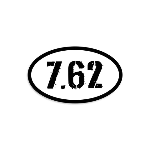 7.62 Black & White Vinyl Sticker