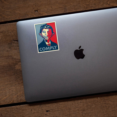 Alfred E. Neuman Comply Vinyl Sticker
