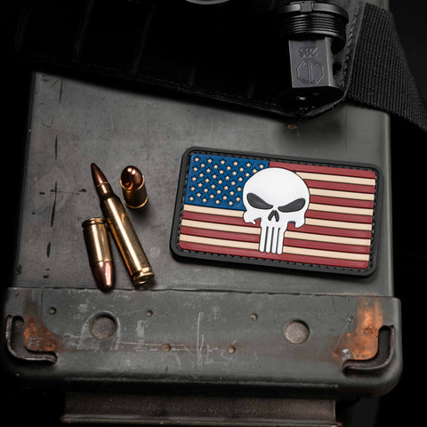 American Flag Punisher Morale Patch