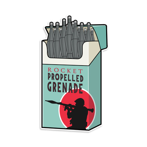 Rocket Propelled Grenade American Spirit Vinyl Sticker