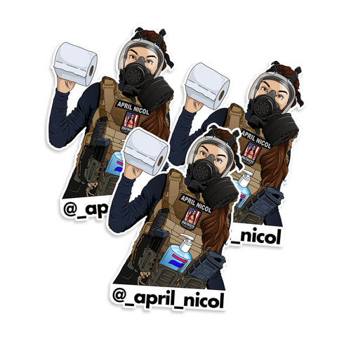April Nicol COVID-19 Prepper Vinyl Sticker