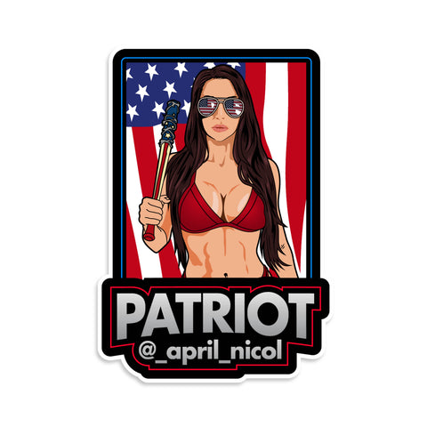 April Nicol Patriot Vinyl Sticker
