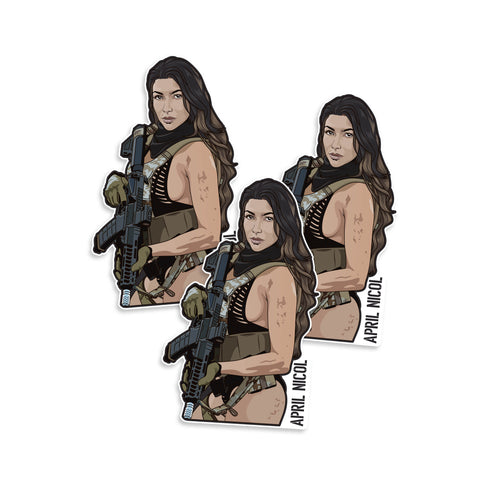 April Nicol SHOT Show 2020 Vinyl Sticker
