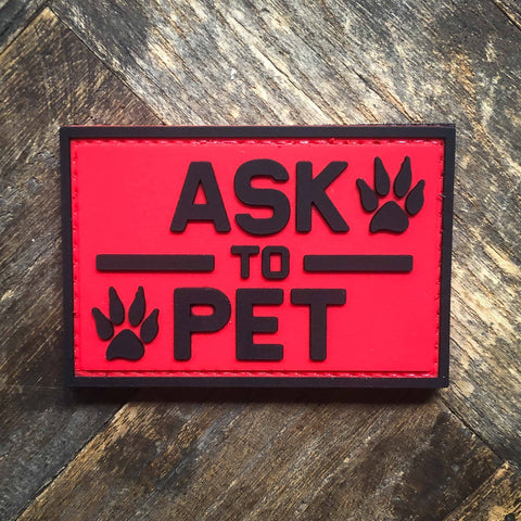 Ask To Pet PVC Morale Patch