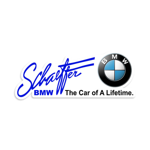 Ashley Schaeffer BMW Vinyl Sticker