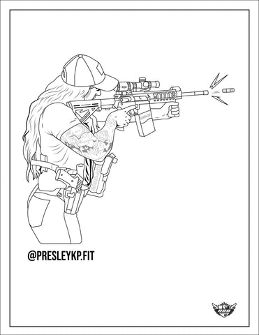 Presley Pritchard B.A.D.A.S.S. Coloring Page (Downloadable PDF)