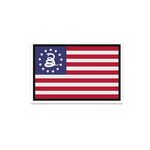Betsy Ross Flag & Snake Vinyl Sticker