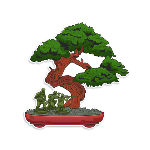 Bonsai Army Men Vinyl Sticker