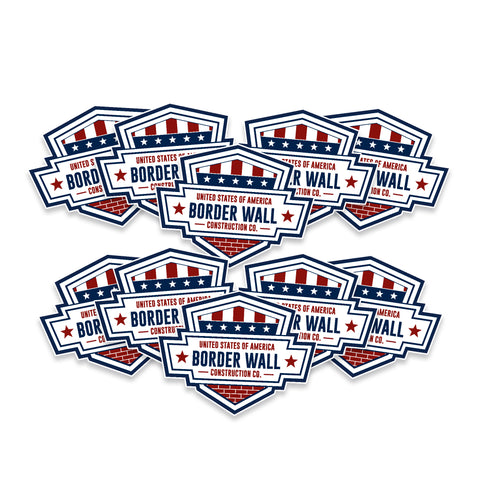 USA Border Wall Construction Co. Vinyl Sticker