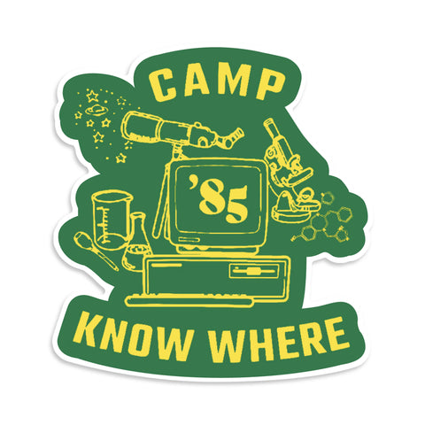 Camp Know Where Dustin Stranger Things Vinyl Sticker