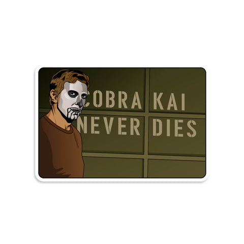 Cobra Kai Never Dies Sticker