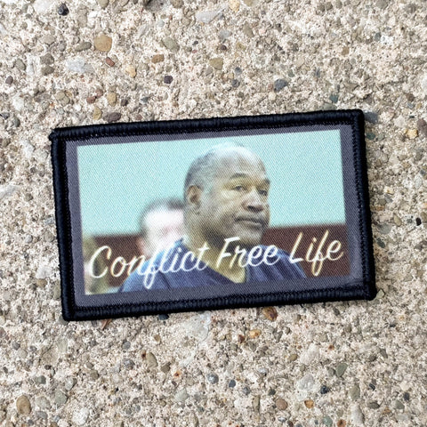 OJ Simpson Conflict Free Life Digital Print Morale Patch