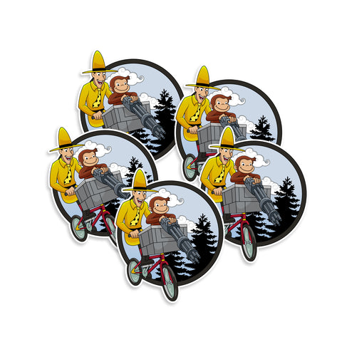 Curious George Man In Yellow Hat Sticker