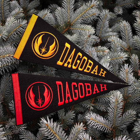 Dagobah Embroidered Pennant - Hook Velcro Backed