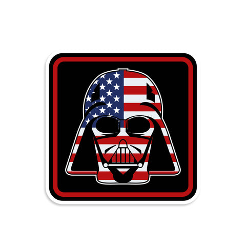 Darth Vader US Flag Vinyl Sticker