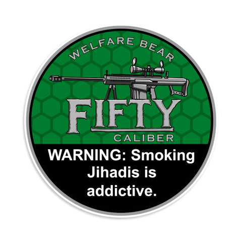 Fifty Caliber Sticker