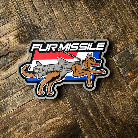 Fur Missle PVC Morale Patch