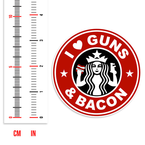 I Love Guns & Bacon Sticker