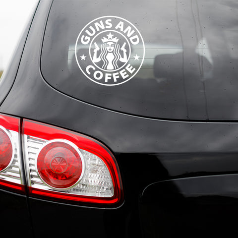 Guns And Coffee Transfer Decal