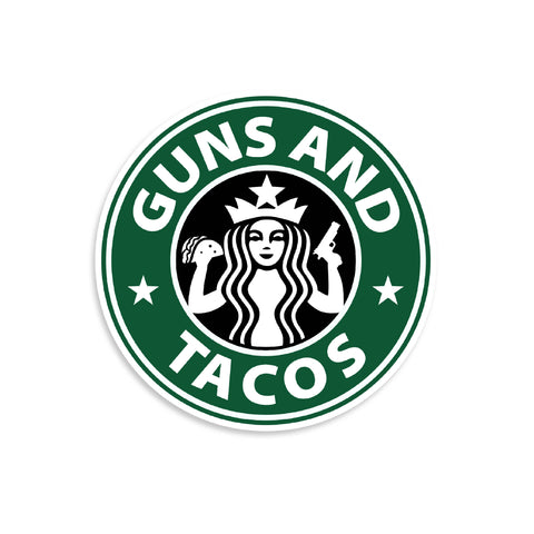 Guns And Tacos Vinyl Sticker