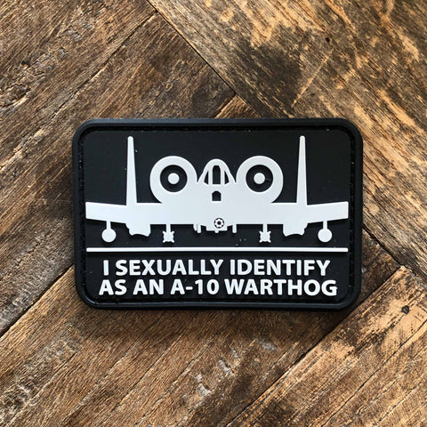 I Sexually Identify As An A-10 Warthog PVC Morale Patch