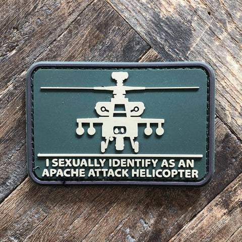 I Sexually Identify As An Apache Attack Helicopter PVC Morale Patch