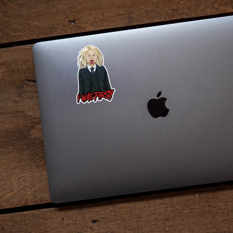 I Was Firsty Holden Lowe American Horror Story Vinyl Sticker