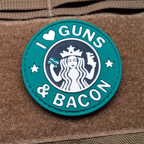 I Love Guns And Bacon Morale Patch