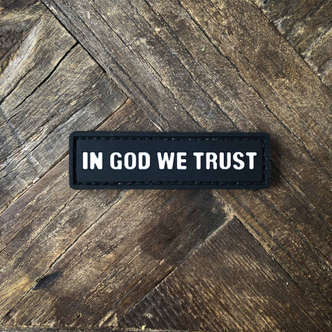In God We Trust PVC Morale Patch