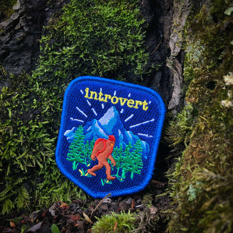 Introvert Embroidered Badge