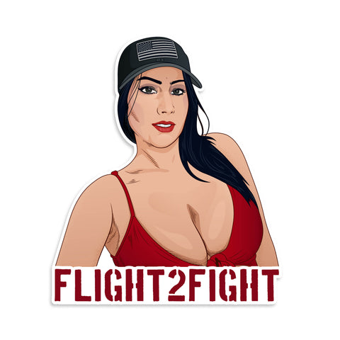 Flight2Fight Vinyl Sticker