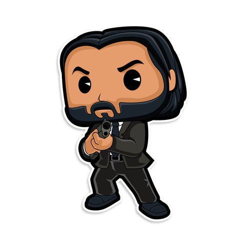 John Wick Funko Pop Sticker
