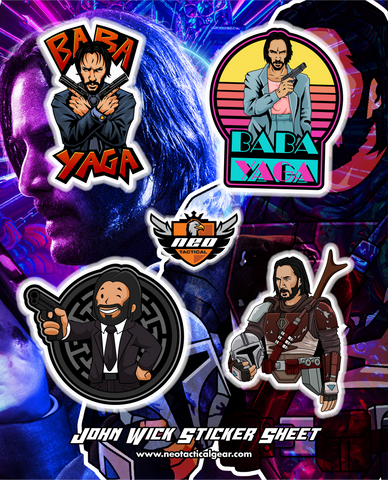 John Wick Sticker Sheet