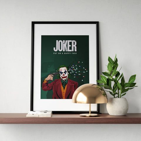 Joker Put On A Happy Face Poster Print