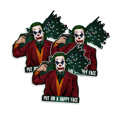 Joker Put On A Happy Face Vinyl Sticker