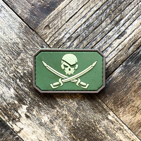 Jolly Roger Skull and Sword - PVC Morale Patch