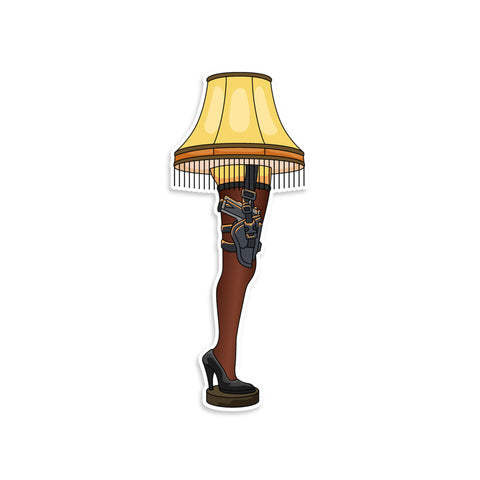 A Christmas Story Leg Lamp Vinyl Sticker